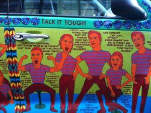 Talk Tough Car Panel