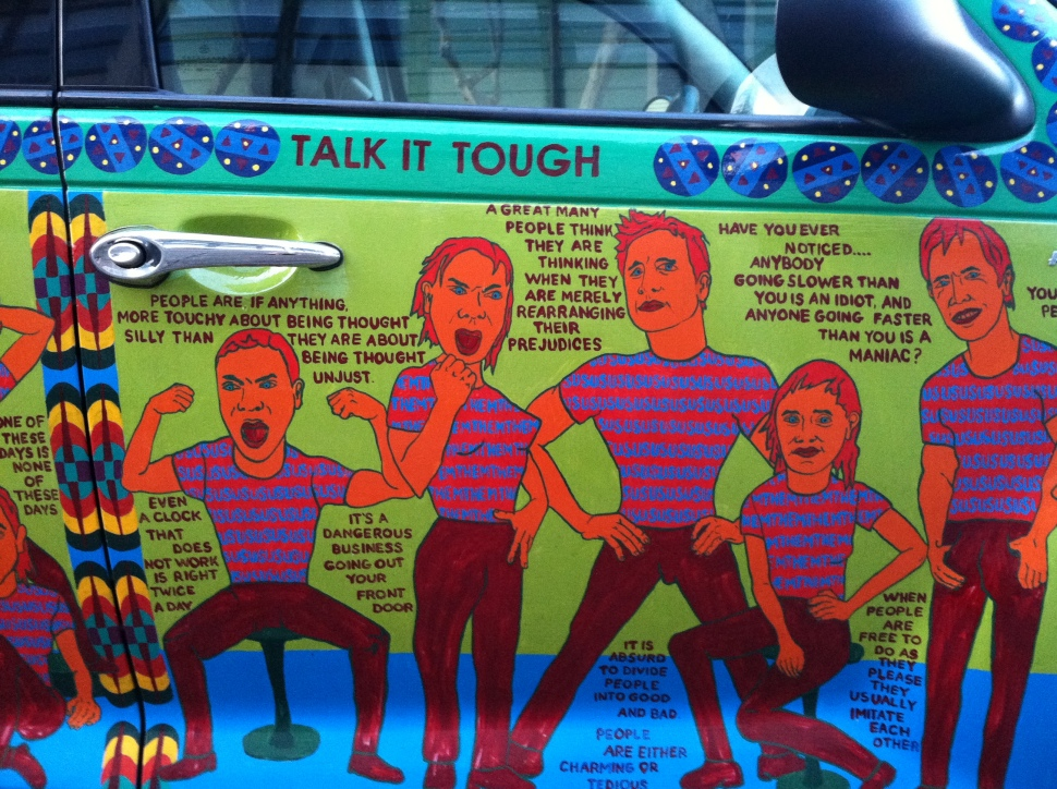 Talk Tough Car Panel