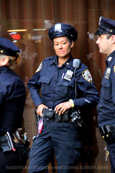 Modern Vespa Female Cop