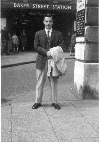 Baker Street Station, London Underground, 1950 Something